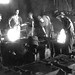 Pat O'Neil with foundrymen pouring molds at 17th and Hull Foundry.  1930 to 1940?