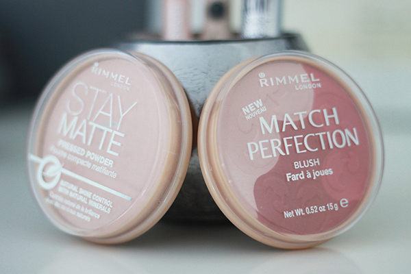 Rimmel Stay Matte Powder and Rimmel Match Perfection Blush in Medium