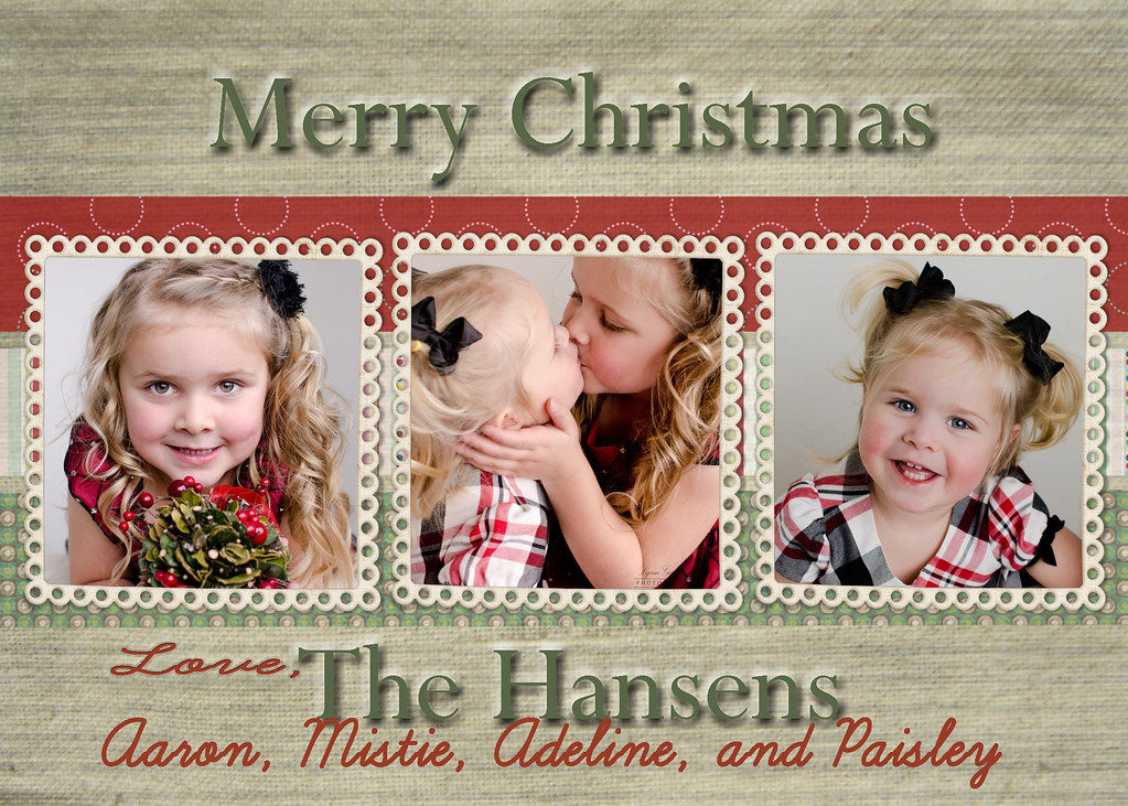 hansen Christmas card one sided