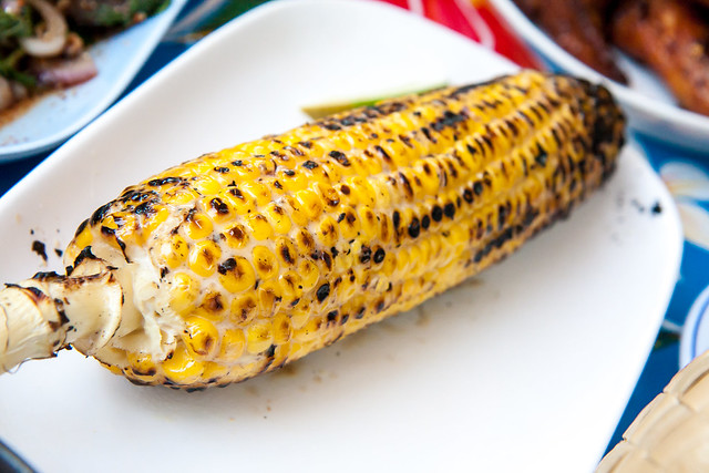 Grilled corn with coconut, Pok Pok Ny