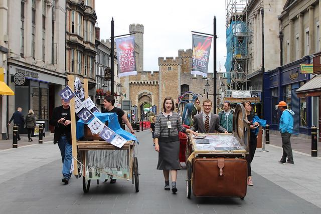 Market Carts visit Cardiff city centre