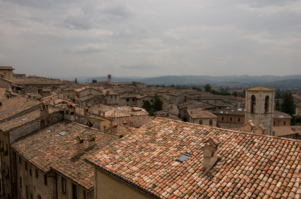 Italy, Roofs in Gubbio