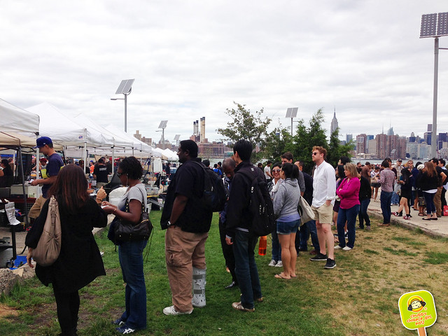 ramen burger line at smorgasburg