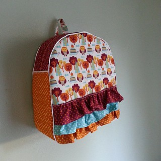 Toddler backpack,  owls