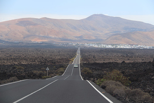 on the road in Lanzarote