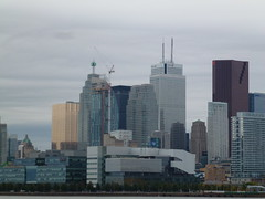 Distant Toronto skyline, viewed from the Port Lands, 2013 10 05 (14)