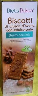 Biscotti di Crusca d'Avena Gusto Nocciola