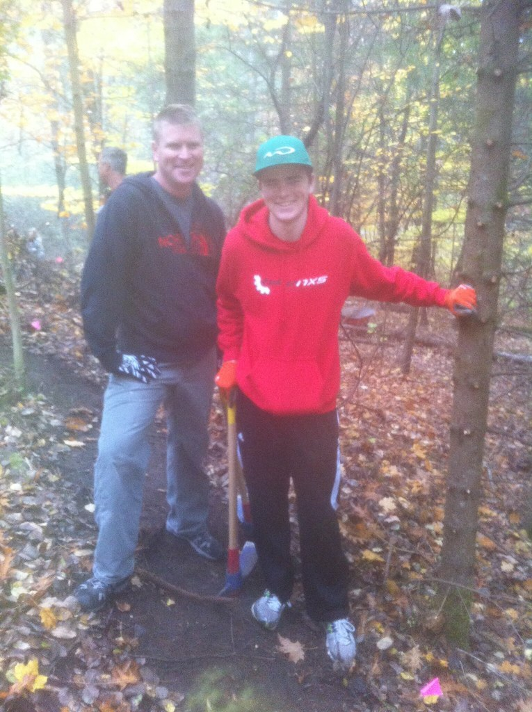 Father and son trail engineers