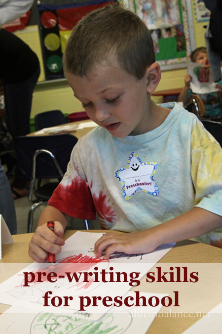 Pre-writing Skills for Preschool