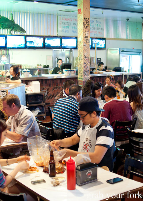 dining room Seafood Boiling Crab Korea Town Los Angeles California