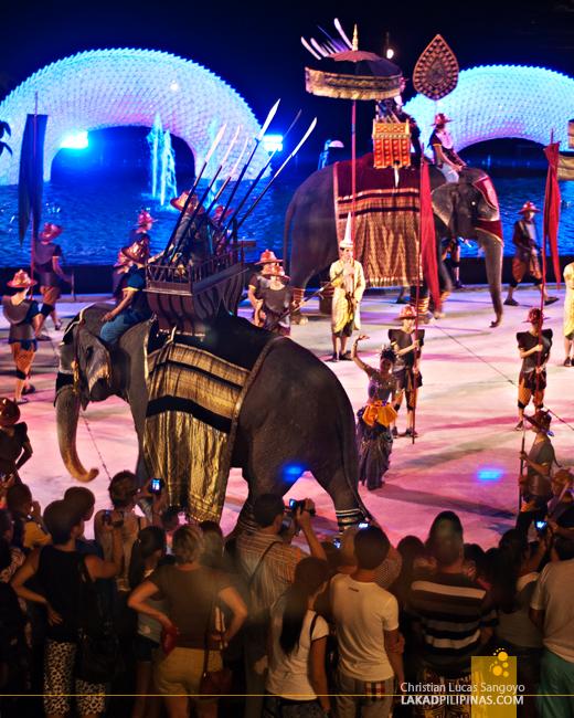 Elephant Show at Phuket's Siam Niramit