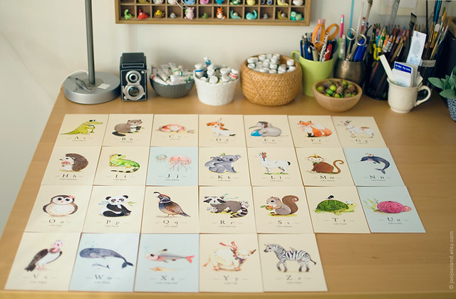Full set of alphabet animals