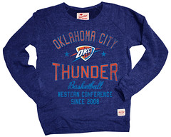 Oklahoma City Thunder Regatta Butler Sweatshirt - Navy