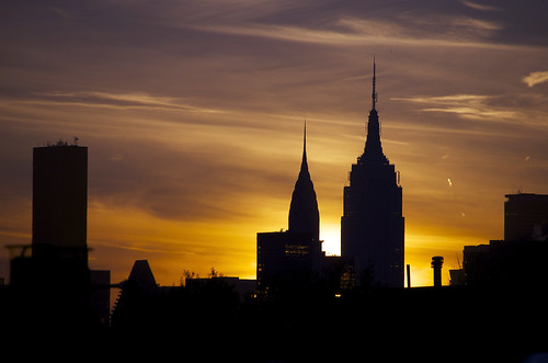 Sunset over NYC 111613-1