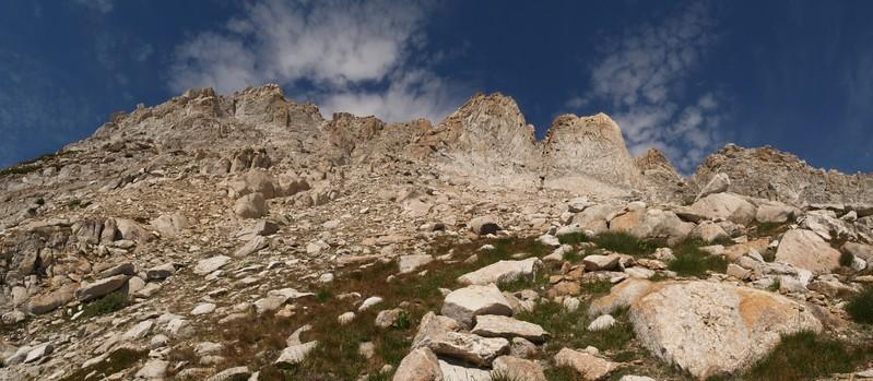 Looking back up the southwest slope of Matterhorn Peak