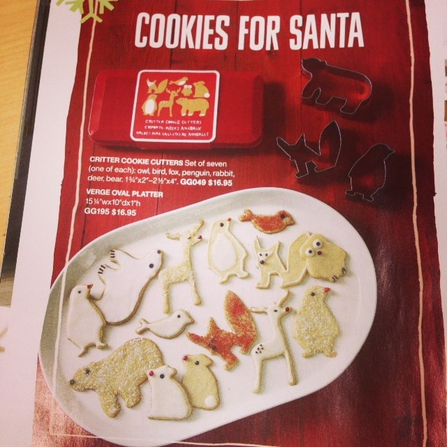 Yeah, so I have an unusually large collection of cookie cutters... Darnit, Crate&Barrel, now I MUST have a fox one! #lunchcatalogbrowsingtime