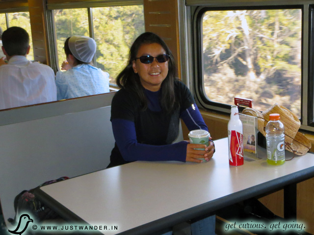 PIC: Food Parlor aboard the Grand Canyon Railway