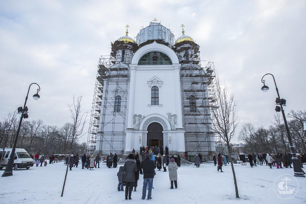 7 декабря 2013, Литургия в Царскосельском Екатерининском соборе
