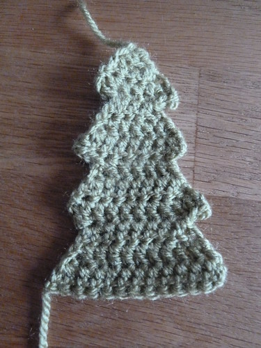 Crochet Christmas Tree Motif