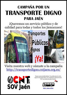 ¡No a la subida de tasas en el transporte urbano de Jaén!