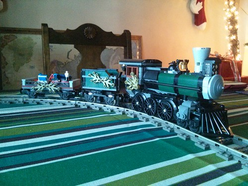 Lego 79111 converted to holiday train
