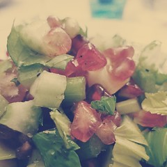 Celery and pomegranate salad