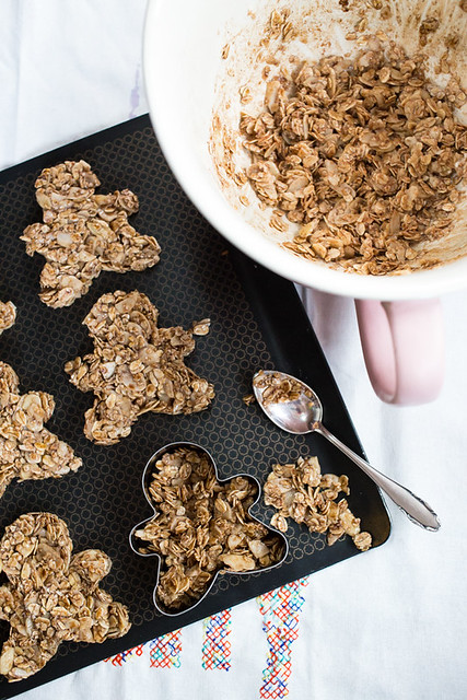Gingerbread Man Shaped Granola