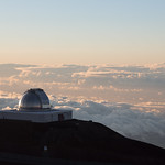 Clouds surround Mauna Kea