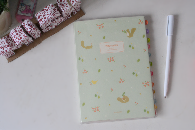 Daisybutter - UK Style and Fashion Blog: the magic notebook, 2014 diary, 2014 stationery, korean stationery, piyo diary