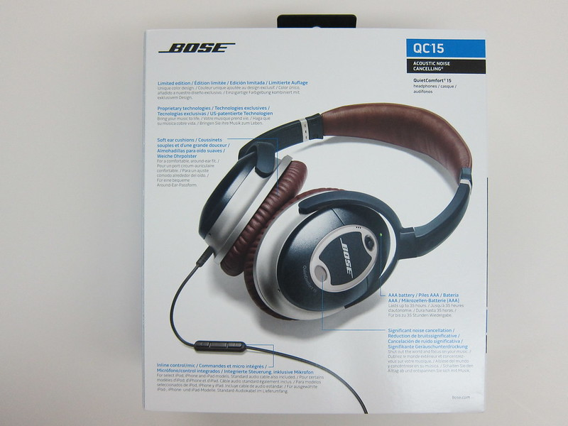 Bose QC15 - Box Back