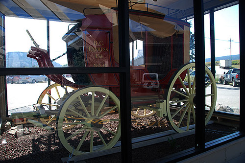 BC Express Stage Coach No. 14, 100 Mile House, Cariboo, British Columbia, Canada