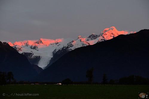 glacier fox 风景 旅行 日落 色彩 新西兰