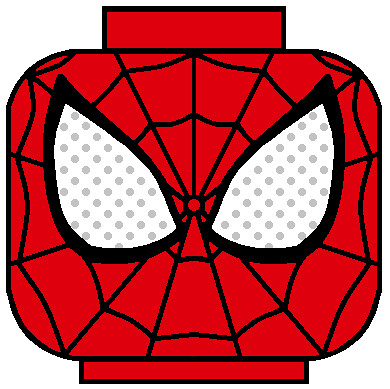 LEGO SDCC Spiderman head decal | Flickr - Photo Sharing!