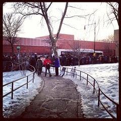 Shuttle bus madness were the A Train should be. #bedstuy