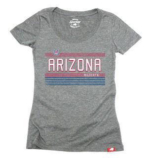 Women's Gray University of Arizona T Shirt