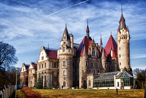 Castle in Moszna (Poland)