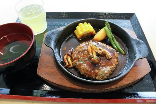 いしなぎ屋の石垣牛ハンバーグステーキ