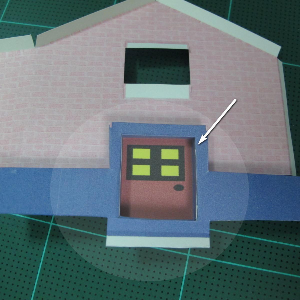 วิธีทำโมเดลกระดาษเป็นรูปบ้าน (Little House Papercraft Model) 006