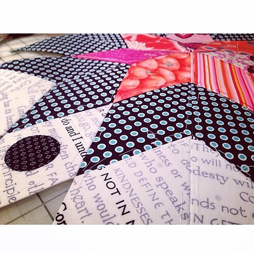 new details! #sevenpointstar #epp #patchwork #sew #sewing