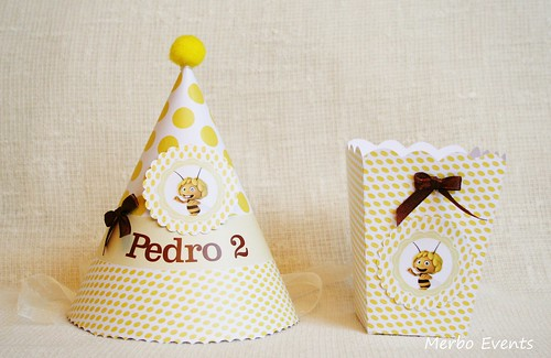 Gorrito y pop corn Kit Abeja Maya Merbo Events