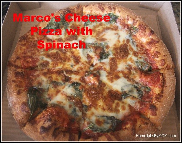 Marco's Cheese Pizza with Spinach