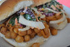 Tangy Chickpeas Sandwich with kale slaw
