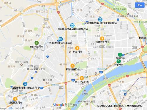 20170225星巴克泰山明志門市開幕-地圖02