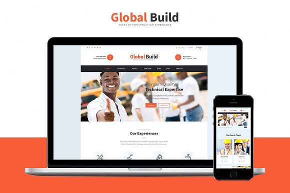 Global Build v1.7 – Construction WP Theme