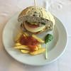Veggie Burger mit Pommes