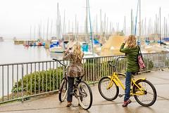 Girls Photographing Monterey Harbor