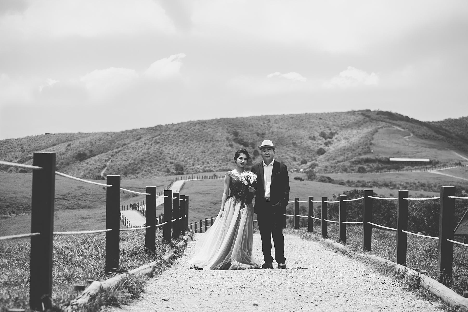 自助婚紗,婚紗攝影,自主婚紗,陽明山,擎天崗,淡水,底片風格,自然