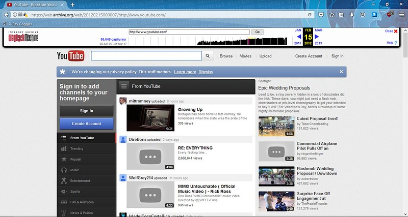 Youtube 2012