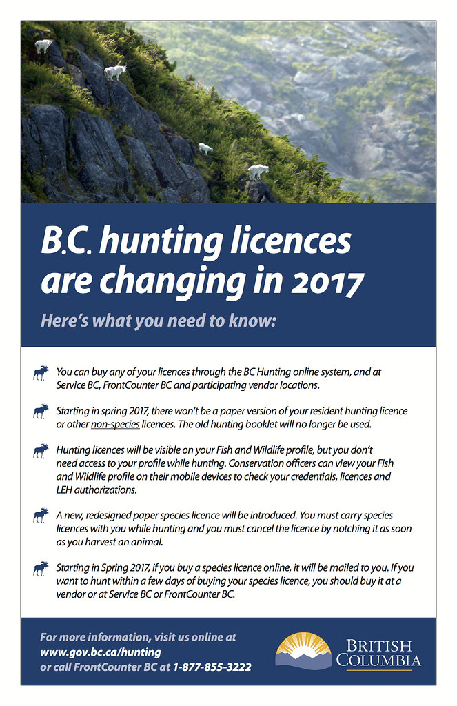 hunting licences now available online | bc gov news