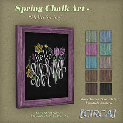 Spring Chalk Art - Hello Spring